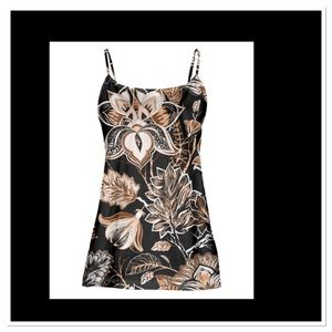 Black & Brown Floral Camisole